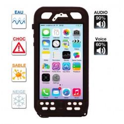 Coque iPhone 5/5s étanche & anti-choc Noire Caseproof Classic ®