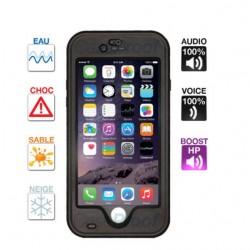 Coque iPhone 6 Plus/6s Plus étanche & anti-choc Noire Caseproof ®