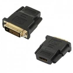 Adaptateur DVI 24+1 pin male vers HDMI femelle